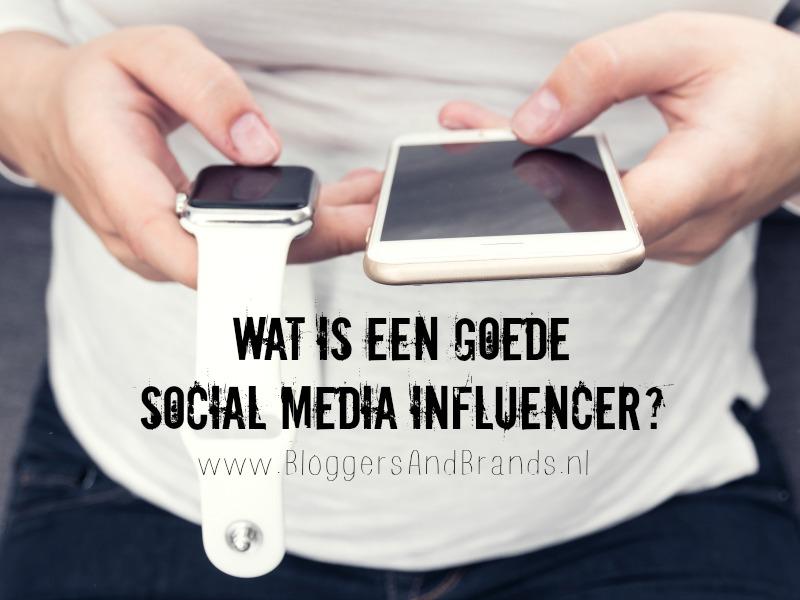 goede social media influencer