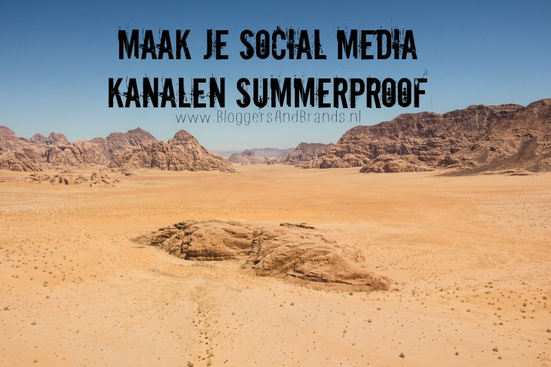 social media kanalen summerproof
