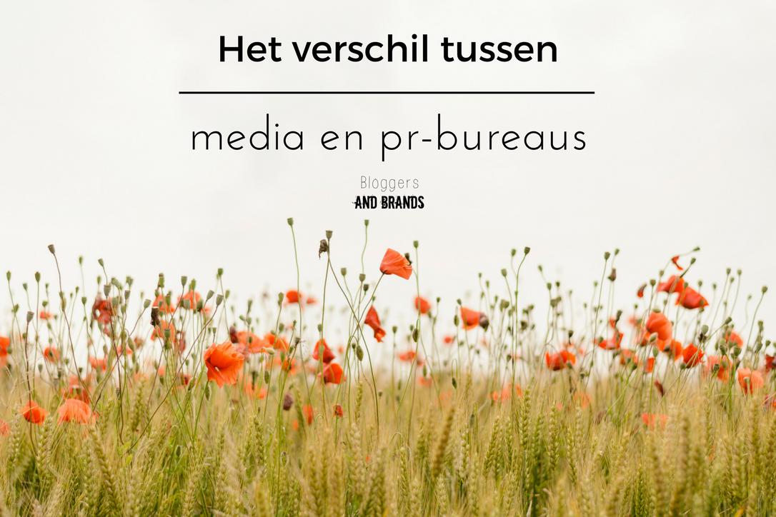 Het verschil tussen een media en pr-bureau