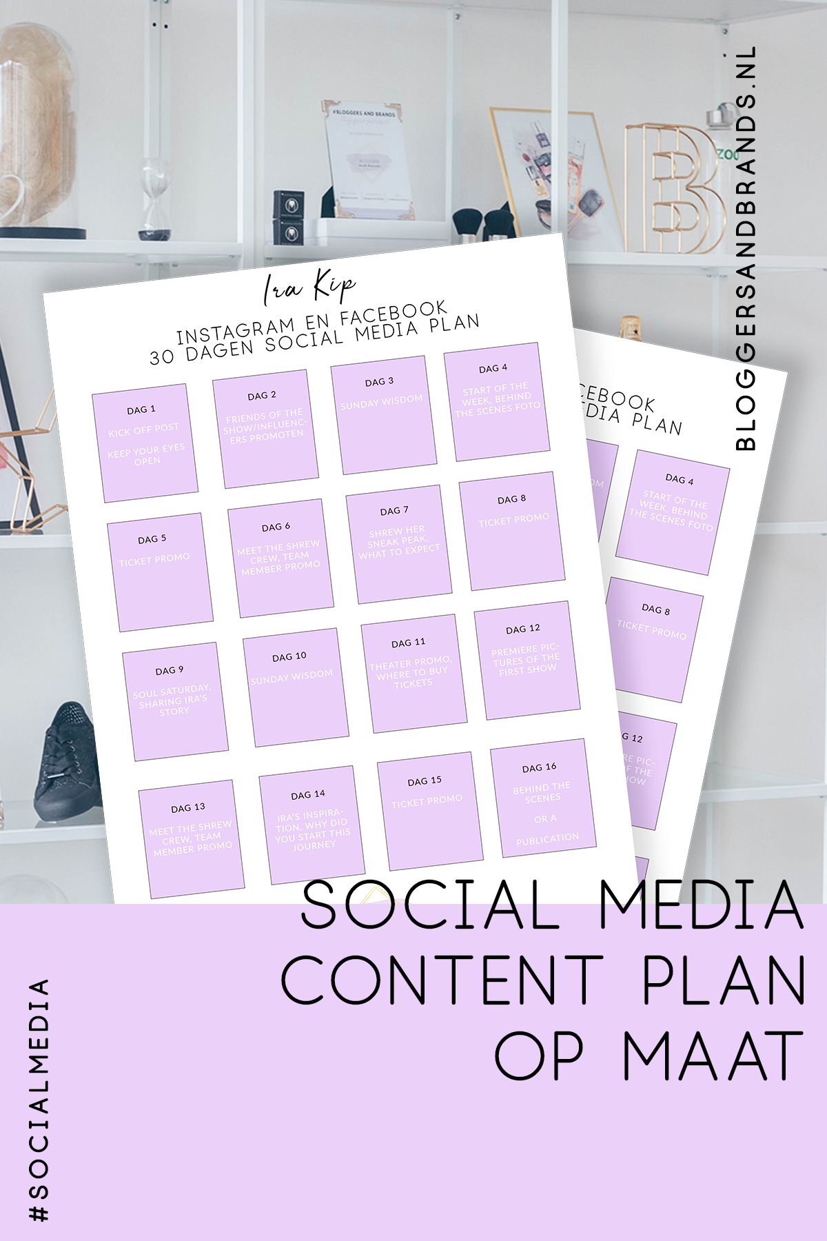 Social media content plan op maat